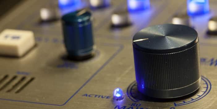 control knobs at WERA-FM
