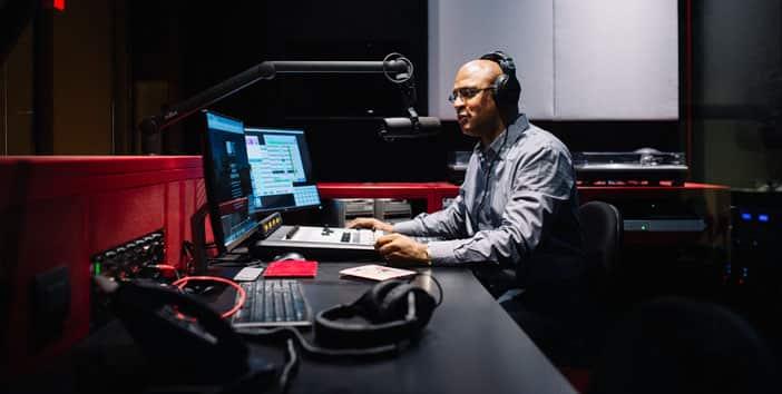 Radio announcer at WERA studios